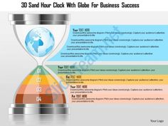 0115 3d sand hour clock with globe for business success powerpoint template