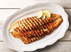 Buffalo Grilled Redfish from Publix Aprons # Contest Fish Dishes, Seafood Dishes, Seafood Recipes, Main Dishes, Tempura Batter Mix, Publix Aprons Recipes, Seafood Seasoning, Red Fish