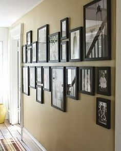 Special way of grouping frames.  The frames are all on the center line to line creates a nice lines.