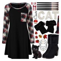 """""""Plaid Dress"""" by pastelneon ❤ liked on Polyvore featuring Avon"""