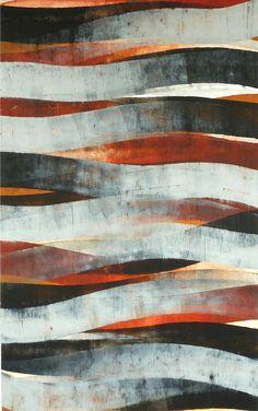 "glovaskicom: "" Stream #1, oil and wax on paper, 40x26, Glovaski 2011 """