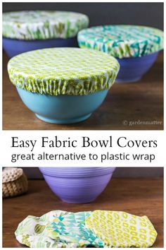 25 things to do with Fat Quarters Learn how to make pretty fabric bowl covers to protect your food a Easy Sewing Projects, Sewing Projects For Beginners, Sewing Hacks, Sewing Tutorials, Sewing Crafts, Sewing Tips, Diy Gifts Sewing, Gifts To Sew, Craft Projects For Adults