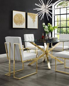 Inspired Home Faux Leather Dining Chairs, Set of 2 Faux Leather Dining Chairs, Black Dining Chairs, Dining Chair Set, Dining Sets, Leather Sectional, Luxury Dining Room, Beautiful Dining Rooms, Dining Room Design, Plywood Furniture