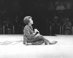 """JUDY: taking a load off at the Westbury Music Fair during her 1967 """"comeback"""" tour...""""What comeback?...I've never been away."""""""