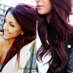 Red Hair Color : This is the color I want. I've been wanting it for soooo long. I hope it looks good. Dark Red Hair, Hair Color Dark, Purple Hair, Burgundy Colour, Deep Burgandy Hair Color, Violet Hair, Brown Hair, Haircut And Color, Hair Color And Cut