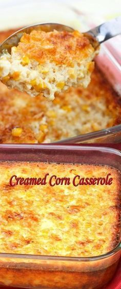 Best Creamed Corn Casserole I used cream & heavy whipping cream in place of milk. Used only fresh sweet corn - no cream corn. Thanksgiving Recipes, Holiday Recipes, Great Recipes, Favorite Recipes, Cream Corn Casserole, Casserole Dishes, Corn Cassarole, Cornbread Casserole, Casserole Recipes