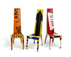 Creative Design Tables and Chairs Recycling, Transit Chair and Table by Boris Bally - Home Design Inspiration Funky Furniture, Repurposed Furniture, Furniture Making, Home Furniture, Furniture Design, Street Furniture, Graffiti Furniture, Furniture Stores, Furniture Removal