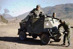 Korean theater built Armoured jeep w 75mm recoilless AT gun.