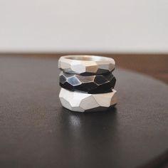#katiegjewellery unisex chunky cutting edge rings ❤