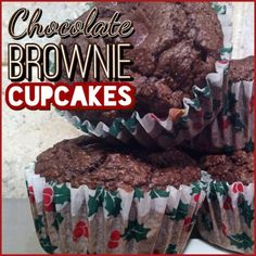 Ripped Recipes - Chocolate Brownie Cupcakes - Happy #ChristmasinJuly Lol didn't plan for the occasion with the wrappers, they just happened to be the only ones I had. These #questbar infused unfrosted cupcakes are soooo moist (erg I hate that word) and chocolatey