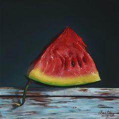 """A Slice of Refreshment"" - Original Fine Art for Sale - © Faith Te"