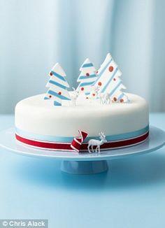 ski christmas cake square - Google Search