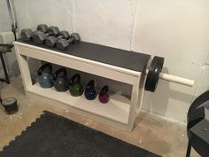 Weight Rack I really wanted a weight rack to put in our basement gym but they. - Garage gym - Home Gym Home Gym Basement, Home Gym Garage, Gym Room At Home, Basement Bathroom, Basement Ideas, Home Made Gym, Diy Home Gym, Workout Room Home, Workout Rooms