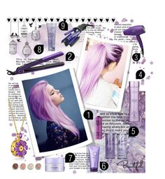 """""""Lavender Hair #D"""" by wegenweil on Polyvore featuring beauty, TIGI, Nick Chavez Beverly Hills, Alterna, Terre Mère and Hot Tools"""