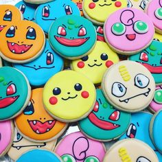 Some Pokémon cookies for my nephews' birthday party! #pokemon #pokemongo #pikachu #bulbasaur #jugglypuff #squirtle #charmander #meowth #cookie #cookies #cookiedecorating #decoratedcookies #sugarcookies #food #yum #nom #sweets #asseenincolumbus #shortnorth #cbus #columbus #plentyocookies