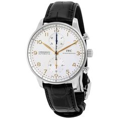 IWC Portuguese Chronograph Silver Dial Men's Watch 3714-45 - Portuguese - IWC - Watches - Jomashop