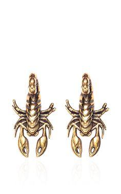 2-Part Scorpion Earring by Pamela Love for Preorder on Moda Operandi