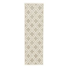 Moroccan Trellis Rug. Plainer runner option if keep slip cover color. Good review.