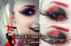 Tutorial Makeup - Harley Quinn KikiMakeup | Nerdivinas