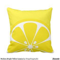 Modern Bright Yellow Lemon