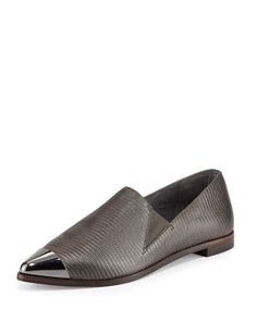 Canal+Lizard-Embossed+Leather+Loafer,+Asphalt+by+Saint+&+Libertine+at+Neiman+Marcus+Last+Call. $139