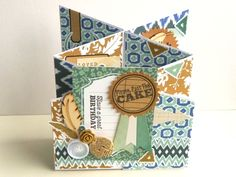 Cardmaking: inspiration for a 'cascade' / 'concertina' / 'foldy-uppy' card ... whatever you want to call it! By Julie Kirk With @papercraftinsp