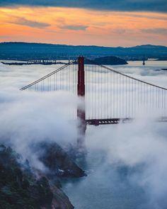Karl the Fog #sanfrancisco #sf #bayarea #alwayssf #goldengatebridge #goldengate #alcatraz #california