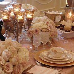 Gallery - Cheri's Vintage Table Romantic Wedding Table