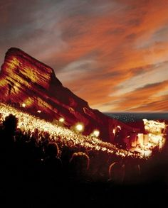 Red Rocks Amphitheatre, Colorado. This is on my concert bucket list!::cM