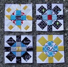 Blocks for The Pillow Talk Swap, Original block design by Red Pepper Quilts.