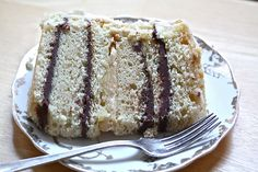 Alice Waters' Cake with Chocolate Ganache, Marzipan and Salted Caramel Buttercream Frosting Cake Recipes, Dessert Recipes, Yummy Recipes, 1234 Cake, Caramel Buttercream Frosting, Delish Cakes, Best Sweets, Crepe Cake, Cake Fillings