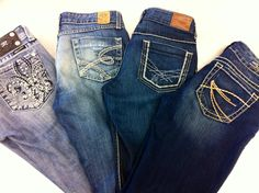 We have your favorite designer jeans! Miss Me, bke, Silver, MEK, and more for only $45-$60 each.