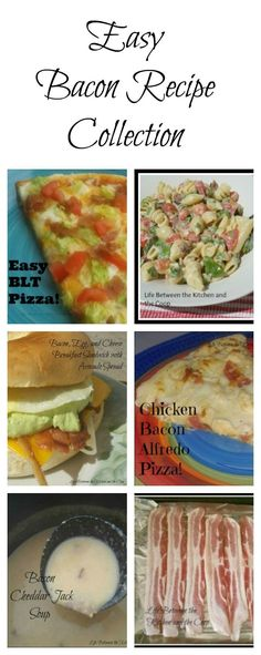 Looking for an easy bacon recipe? When it comes to meat, bacon is the best, dont you think? It seems to be one of those foods that pretty much everyone can agree on! All that you have to do is cook some bacon and then add that yummy bacon to other ing Easy Bacon Recipes, Healthy Recipes, Drink Recipes, Yummy Recipes, Healthy Food, Chicken Bacon Alfredo, Avocado Spread, Good Food, Yummy Food
