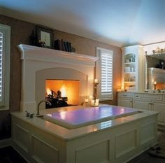bath & fireplace