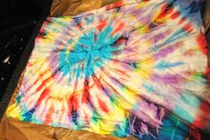 Acrylic paint tie dying - no dyes needed! How fun and easy!