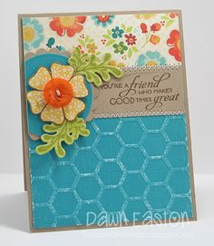 Honeycomb embossing folder, Treasure Oiler Designz/Dawn Easton