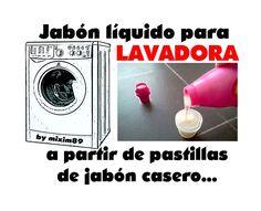 Jabón líquido para lavadora a partir de pastillas de jabón casero by mix...