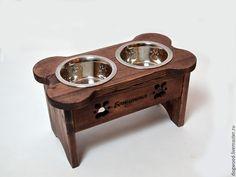 """Купить Подставка под миски """"Косточка"""" - миска, миски, мисочка, заготовки из дерева, аксессуары для собак"""