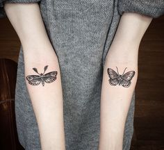 Delicate, adorable butterfly tattoos