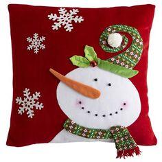 Felt snowman pillow by dana Felt Snowman, Snowman Crafts, Christmas Projects, Holiday Crafts, Snowmen, Christmas Sewing, Noel Christmas, Christmas Ornaments, Christmas Cushions