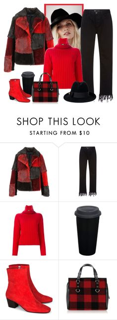 """""""3X1 Fringe Cropped Jeans"""" by bodangela ❤ liked on Polyvore featuring Jocelyn, 3x1, DKNY, Dorateymur, Dsquared2 and Gucci"""