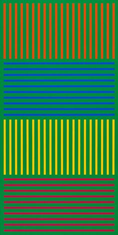 Karl Benjamin: #8 (1976), oil on canvas, 62 x 31 inches