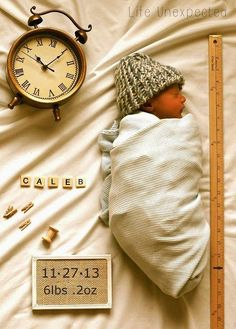 Adorable. Announces time of birth, name, weight, length, all the stats everyone wants to know!