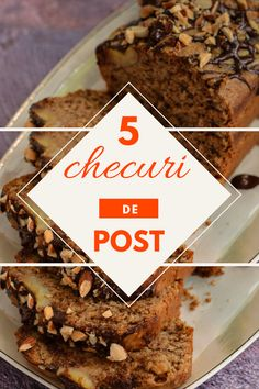 5 rețete simple și rapide de checuri de post. Cum să faci cele mai bune checuri de post. Cu ce înlocuim ouăle în aluatul de post. Caramel, Cake Recipes, Dessert Recipes, Cheesecake, Food Platters, Vegetarian Recipes, Deserts, Goodies, Appetizers