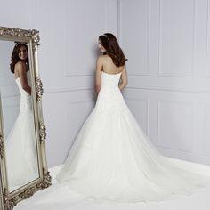 Back of Celestine Wedding Dress - Amanda Wyatt Blue Iris 2015 Bridal Collection