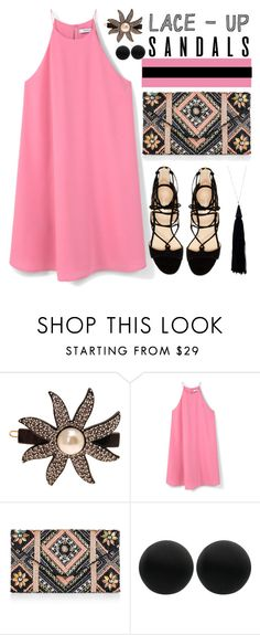 """""""Lace-Up"""" by mrs-rc on Polyvore featuring France Luxe, MANGO, New Look, Marc Fisher, Thomas Sabo and Eddie Borgo"""