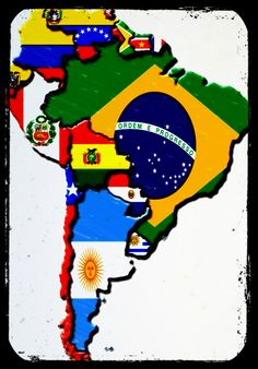 will travel this whole continent World Flags With Names, All World Flags, We Are The World, Countries Of The World, South America Map, Country Maps, History Teachers, World Peace, Spanish Lessons