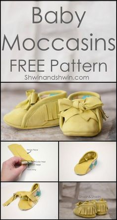 Easy Leather Felt Baby Moccasins - 55+ DIY Baby Shoes with Free Patterns and Tutorials