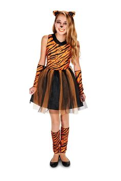 Cool Cat Tigeress Tween Halloween Costume This tigeress cat costume will have your little girl feeling so much like the real thing. http://www.buycostumes.com/p/811219/cool-cat-tigeress-tween-costume?REF=SOC-Pinterest-Mktg16