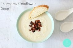perfectly seasonal for Australian #Thermomix fans Cauliflower Soup from @Thermobl